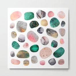 Pretty Pebbles Metal Print