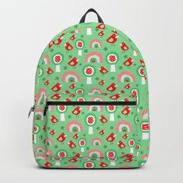 Kids birds rainbow garden Backpack