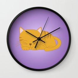 Orange Tabby Kitten Wall Clock