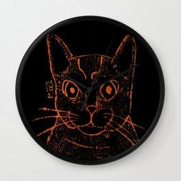 Hunter Stray Cat Wall Clock