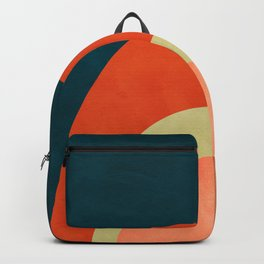 mid century geometric abstract autumn 2 Backpack
