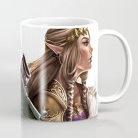 the legend of zelda Mugs featuring Legend of Zelda by KlsteeleArt