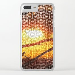 Sunset Geometry | Ferntree Gully Clear iPhone Case