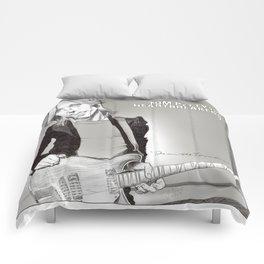 Tom Petty Caricature Comforters