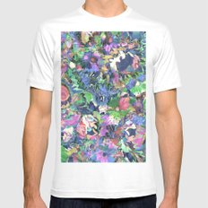 Flower Explosion Mens Fitted Tee MEDIUM White