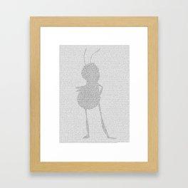 Bee Movie Script Framed Art Print