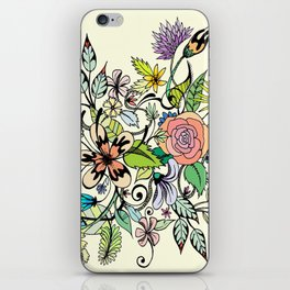 Floral Yellow iPhone Skin