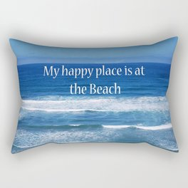 My Happy Place is at the Beach Rectangular Pillow