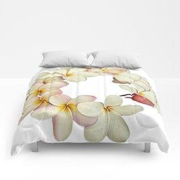 Plumeria Tropical Flower Garland Comforters