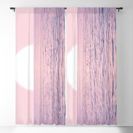 Pink on the Sea Blackout Curtain