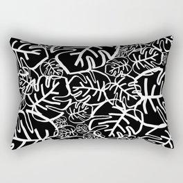 Black Palms Rectangular Pillow