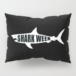 Shark week (on black) Pillow Sham