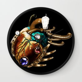 Steampunk inspired heart Wall Clock