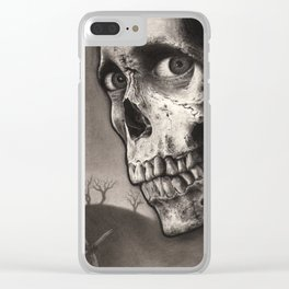 Evil Dead II - Ash Williams and Skull Clear iPhone Case