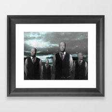 Be simple. Be different. Framed Art Print