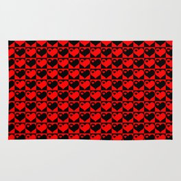 Hearts Love Collage Rug