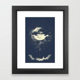 MOON CLIMBING Framed Art Print