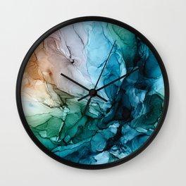 Salty Shores Abstract Painting Wall Clock