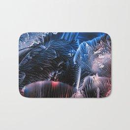Abstract Midnight Blue Red Bath Mat