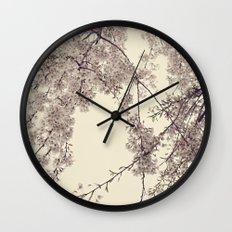 Raintree Lavender pink tree blossoms Wall Clock