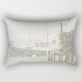 Bass Harbor in Heavy Snowstorm, Mount Desert Island, Maine Rectangular Pillow