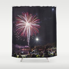 Gloucester Fireworks Shower Curtain