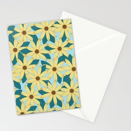 Gerbera Blue Stationery Cards