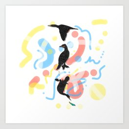 Fly Walk Swim Art Print