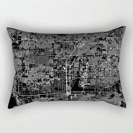 Las Vegas Black Map Rectangular Pillow