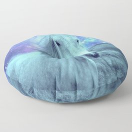 Celestial Dreams Horse Periwinkle Lavender Aqua Floor Pillow