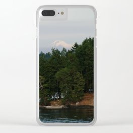A glimpse at Mount Baker, WA Clear iPhone Case