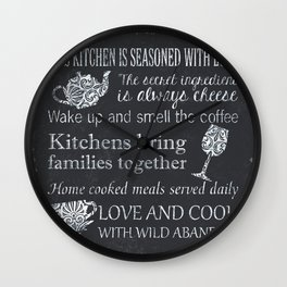 This Kitchen is Seasoned with Love Wall Clock