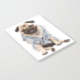 Helmut the Pug - Jean Jacket Notebook