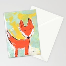 Bright and Happy Fox Stationery Cards