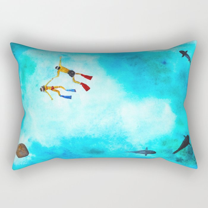 Explore the world Rectangular Pillow