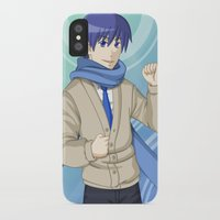 vocaloid iPhone & iPod Cases featuring Kaito - VOCALOID Gakuen by Tenki Incorporated