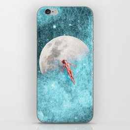 FLOATING TO THE MOON iPhone Skin