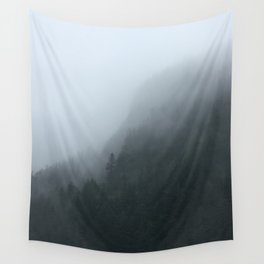 Misty Trees Wall Tapestry