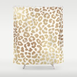 ReaL LeOpard - Greek Ancient Gold Shower Curtain