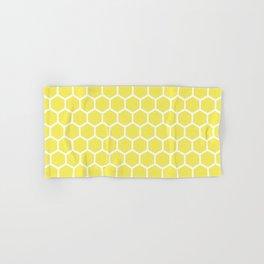 Summery Happy Yellow Honeycomb Pattern - MIX & MATCH Hand & Bath Towel
