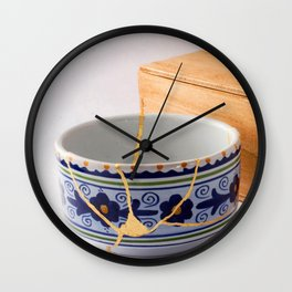 Kintsuqi Bowl #1 Wall Clock