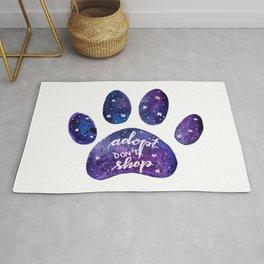 Adopt don't shop galaxy paw - purple Rug