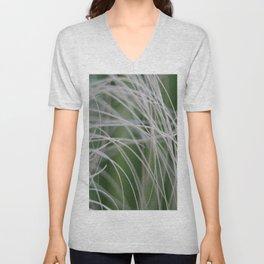 Rainforest Palm Tree Leaf Close Up  Unisex V-Neck