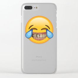Tears Of Moderate Joy Clear iPhone Case