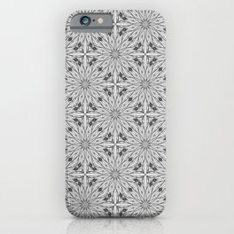 Grey scale pattern iPhone Case