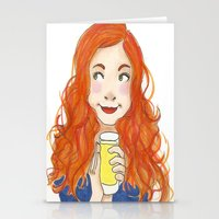 amy pond Stationery Cards featuring Amy Pond Lemonade by Lena Lang