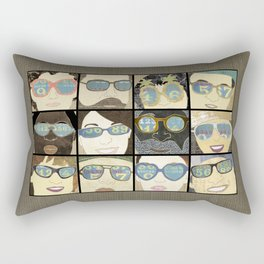 Glasses Vertical Rectangular Pillow