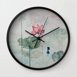 A World in a Flower Wall Clock