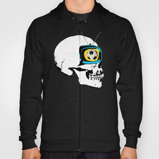 Football Mind - a round thing in the TV eye v4 Hoody