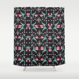 Flowers and Flytraps Shower Curtain